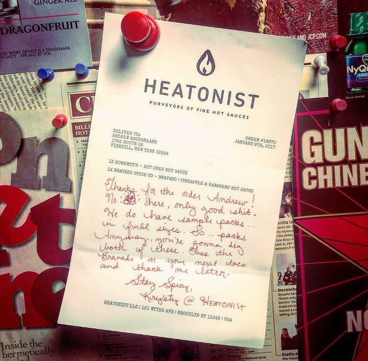 Note from Heatonist